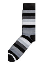 5-pack socks - Black/Striped - Men | H&M CN 2