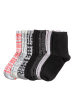 7-pack socks - Grey/Leopard print - Kids | H&M 1