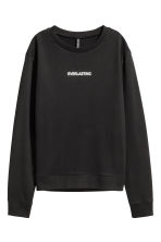 Printed sweatshirt - Black - Ladies | H&M CN 2