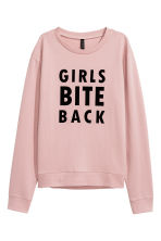 Printed sweatshirt - Pink - Ladies | H&M 2