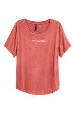 T-shirt with a motif - Brick red - Ladies | H&M 2