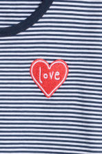 Cotton jersey T-shirt - Dark blue/Striped - Ladies | H&M CN 3