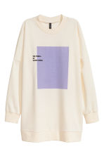 Felpa con stampa - Bianco naturale - DONNA | H&M IT 2