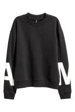 Sweatshirt with side slits - Black - Ladies | H&M CN 2