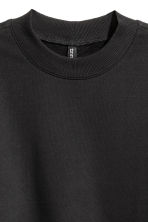 Sweatshirt with side slits - Black - Ladies | H&M CN 3