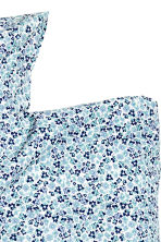 Washed cotton duvet cover set - Blue/Small floral - Home All | H&M CN 2