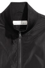 Jacket with a stand-up collar - Black -  | H&M 3