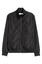 Jacket with a stand-up collar - Black -  | H&M 2