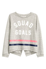 Sweat avec impression - Gris chiné -  | H&M FR 2