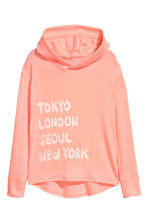 Hooded top with a print motif - Apricot/Cities - Kids | H&M 2