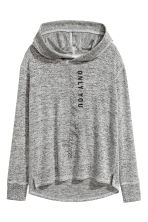 Hooded top with a print motif - Grey marl - Kids | H&M 2