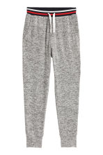 Fine-knit joggers - Grey marl/Red -  | H&M 2
