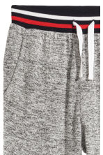 Fine-knit joggers - Grey marl/Red -  | H&M CN 3
