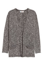 Fine-knit cardigan - Black marl - Kids | H&M 2