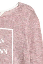 Fine-knit jumper - Old rose -  | H&M CN 3