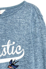 Fine-knit jumper - Blue marl - Kids | H&M 3
