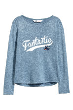 Fine-knit jumper - Blue marl - Kids | H&M 2