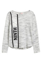 Fine-knit jumper - Light grey marl - Kids | H&M CN 2