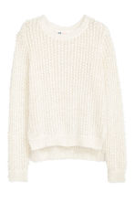 Knitted jumper - Natural white -  | H&M CN 2