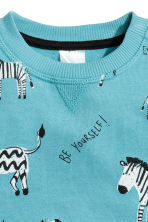 Sweatshirt with a motif - Turquoise -  | H&M 2