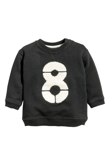 Sweatshirt with a motif - Dark grey -  | H&M 1
