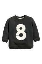 Sweatshirt with a motif - Dark grey -  | H&M CN 1