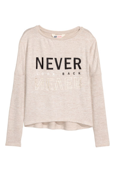 Fine-knit jumper - Light beige marl - Kids | H&M 1