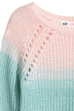 Knitted jumper - Pink/Turquoise - Kids | H&M 3