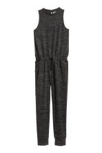 Fine-knit jumpsuit - Black marl -  | H&M CN 2
