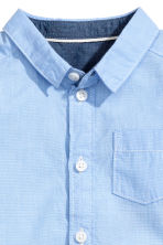Cotton shirt - Light blue marl -  | H&M 2