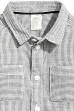 Cotton shirt - White/Dark grey striped -  | H&M 2