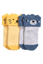 2-pack terry socks - Yellow - Kids | H&M 2