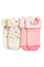 2-pack terry socks - White/Spotted - Kids | H&M 2