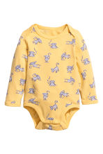 Long-sleeved bodysuit - Yellow - Kids | H&M CN 1