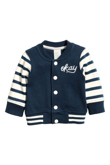 Sweatshirt cardigan - Dark blue - Kids | H&M CN 1