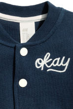 Sweatshirt cardigan - Dark blue - Kids | H&M CN 2