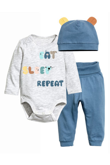 Bodysuit with trousers and hat - Blue -  | H&M 1