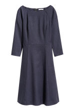 Knee-length dress - Dark blue/Patterned - Ladies | H&M CN 2