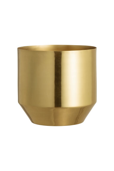 Small metal plant pot - Gold - Home All | H&M CA 1