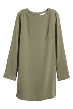 Crêpe dress - Khaki green - Ladies | H&M 2