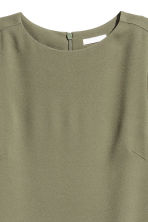 Crêpe dress - Khaki green - Ladies | H&M 3