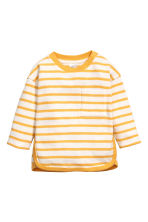 Cotton top - Yellow/Striped -  | H&M CN 1