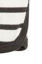 Cotton top - Dark grey/Striped -  | H&M 2