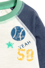 Long-sleeved T-shirt - Natural white/Green - Kids | H&M 2