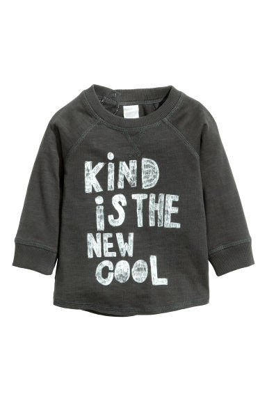 Long-sleeved T-shirt - Dark grey - Kids | H&M GB 1