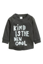 Long-sleeved T-shirt - Dark grey - Kids | H&M 1