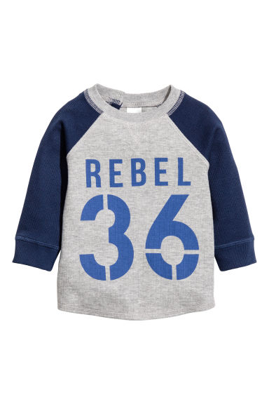 T-shirt a maniche lunghe - Grey marl - BAMBINO | H&M IT 1