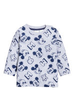 2-pack long-sleeved T-shirts - Light grey/Mickey Mouse - Kids | H&M 2