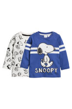 2件入長袖T恤 - Cornflower blue/Snoopy - Kids | H&M 1