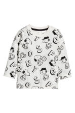 2-pack long-sleeved T-shirts - Cornflower blue/Snoopy - Kids | H&M 2